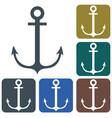 nautical anchor icon vector image vector image