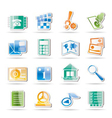 phone and computer icons vector image vector image