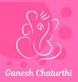 pink ganesh chaturthi background flat style vector image