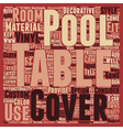 Posh Pool Table Covers The Latest Trend In vector image vector image