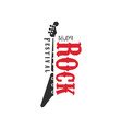 rock festival logo 18 april black and red emblem vector image vector image