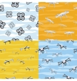 Seamless Pattern Drone Icon Flying in Sky vector image vector image