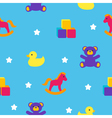 seamless pattern with children toys vector image