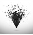 shatter and destruction dark triangle explosion vector image vector image
