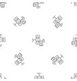 smart control electricity pattern seamless vector image vector image