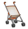 stroller cartoon isolated design vector image