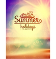 Summer holidays typography background vector image vector image