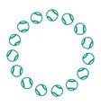 tennis balls circle emblem image vector image vector image