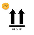 this side up packaging symbol icon isolated flat vector image