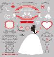 wedding bridal shower decor set bride invitation vector image