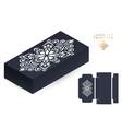 wedding card laser cut template box vector image