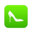 women shoe with high heels icon digital green vector image vector image