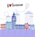 I love London 2 vector image