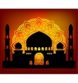 silhouette Arab indian temple vector image