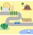 Abstract city map in flat style vector image