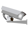 Security camera on white background vector image