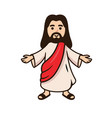 jesus christ smiling with open arms vector image