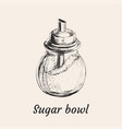 sugar bowl vector image