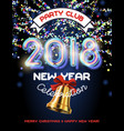 2018 colorful garland invitation vector image