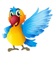 A cheerful parrot vector image vector image