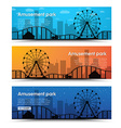 A set of banners for the amusement park vector image vector image