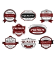 Assorted Premium Quality labels and banners vector image vector image