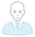 bald clerk mesh network model vector image vector image