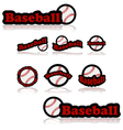 Baseball icons vector image