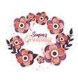 beautiful floral elements frame with calligraphy vector image vector image