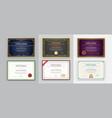 big set 9 diploma or certificate design vector image