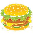 big tasty sandwich vector image