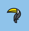 bold line icon or logo template of toucan vector image vector image