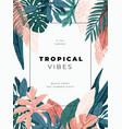 bright and trandy summer hawaiian banner party vector image vector image