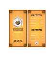 brochure coffee template vector image vector image
