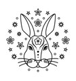 bunny chinese zodiac sign vector image