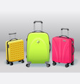 business and family vacation travel luggage with vector image vector image