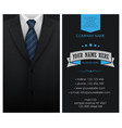business card elegant suit and tuxedo with bow tie vector image vector image