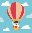 Businessman in hot air Big Idea vector image vector image