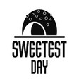 candy sweet day logo simple style vector image vector image