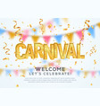 carnival celebration background template welcome vector image vector image