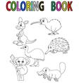 Cartoon Australia animal coloring book vector image
