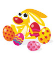 cartoon easter bunny vector image vector image