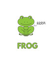 cartoon frog flashcard for children vector image vector image