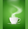 ceramic cup for tea coffee vector image vector image