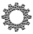 cogwheel mosaic of lock icons vector image vector image