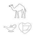 country united arab emirates outline icons in set vector image vector image