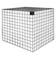cube area vintage vector image vector image