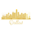 Dallas City skyline golden silhouette vector image vector image