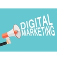 Digital Marketing Icon Hand with Megaphone vector image vector image
