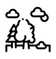 diverse forest icon outline vector image vector image